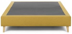 Основание кровати на ножках Nikos 140X190X36 CM горчичного цвета
