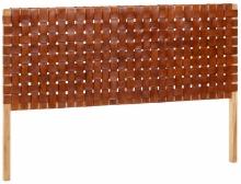 Изголовье для кровати из тика и кожи Calixta 153X110 CM