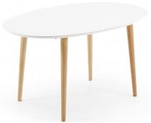 Овальный стол Oakland 140-220X90X74 CM белый