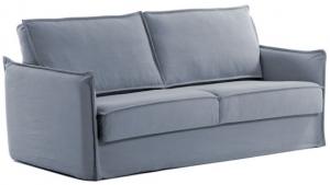 Диван кровать Samsa 182X95-220X92 CM голубого цвета с вязкоупругим матрасом