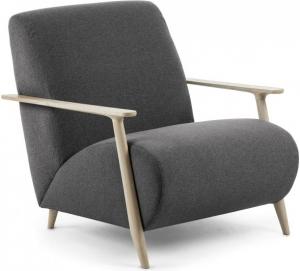 Кресло на каркасе из ясеня Marthan 78X77X86 CM графитовое