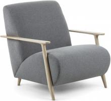 Кресло на каркасе из ясеня Marthan 77X83X78 CM серое