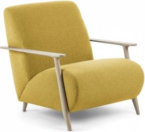 Кресло на каркасе из ясеня Marthan 78X77X86 CM горчичное