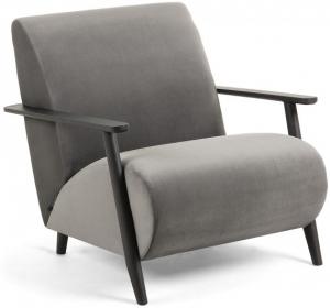 Кресло на каркасе из ясеня Marthan 78X77X86 CM серое