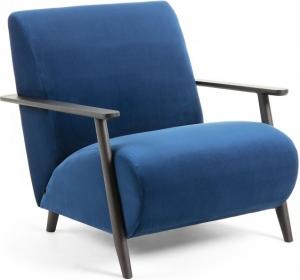 Кресло на каркасе из ясеня Marthan 77X83X78 CM синее