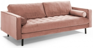 Диван Debra 222X98X103 CM розовый вельвет