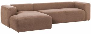 Угловой диван Blok 330X174X69 CM пыльно розовый