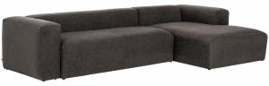 Угловой диван Block 330X174X79 CM чёрного цвета