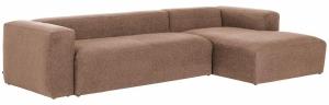 Угловой диван Block 330X174X79 CM пыльно розового цвета