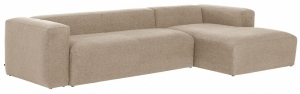 Угловой диван Block 330X174X79 CM бежевого цвета