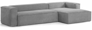 Угловой диван Block 330X174X79 CM серого цвета
