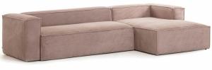 Угловой диван Block 330X174X79 CM розового цвета