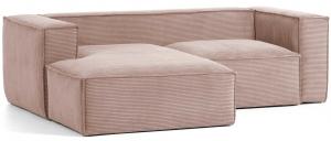 Угловой диван Blok 240X174X69 CM розовый