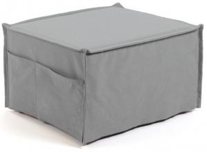 Пуф-кровать Lizzie 60-180X70X45 CM серого цвета