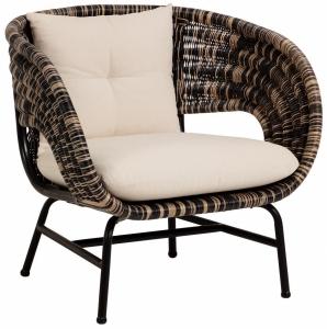 Кресло из ротанга на стальной раме Lin 86X77X83 CM