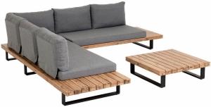 Угловой диван и журнальный столик из акации Zalika 255X213X68 CM