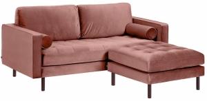 Диван с пуфом Debra 182X178X95 CM розовый