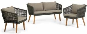 Комплект садовой мебели диван и два кресла Inti 130X67X73 / 61X67X75 / 61X67X75 CM