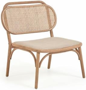 Кресло из массива дуба с мягким сиденьем Doriane 77X62X83 CM