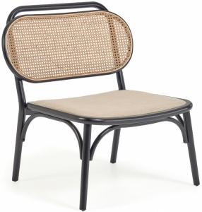 Кресло из массива вяза с мягким сиденьем Doriane 77X62X83 CM