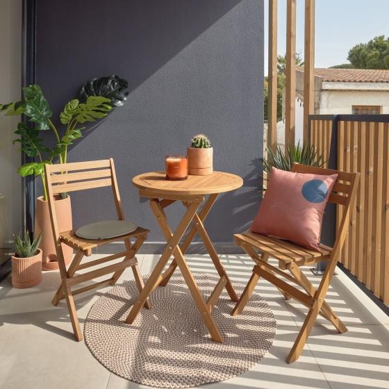 Комплект два стула и стол Elisia 8