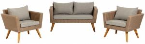 Комплект садовой мебели диван и два кресла Sumie 134X68X72 / 80X68X72 / 80X68X72 CM