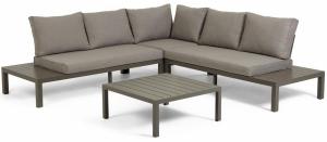 Угловой диван со столиком Duka 246X246X65 CM с каркасом из алюминия