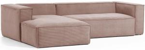Трёхместный угловой диван Blok 300X174X69 CM розового цвета