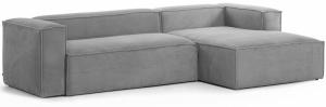 Трёхместный угловой диван Blok 300X174X69 CM серого цвета