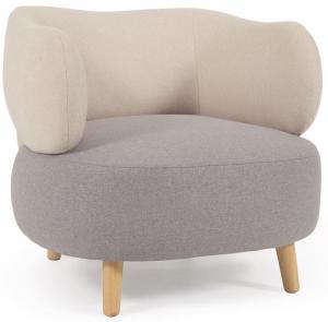 Кресло с основанием из каучукового дерева Luisa 78X80X68 CM
