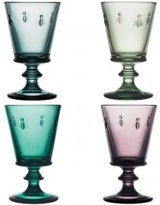 Четыре разноцветных бокала Abeille 240 ml