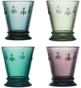 Четыре разноцветных стакана Abeille 260 ml