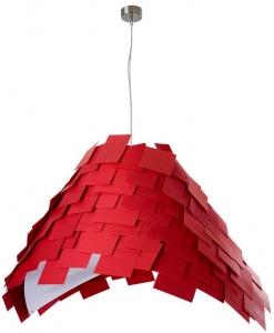 Люстра с мозаичным плафоном Armadillo S 60X50X60 CM красная
