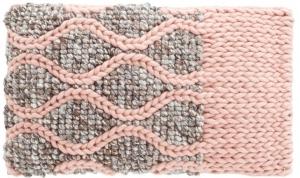 Декоративная подушка Mangas Space 60X36 CM розово-серая