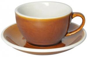 Чайная пара Egg 250 ml карамельная