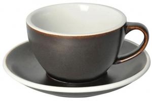 Чайная пара Egg 250 ml тёмно-серая