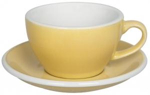 Чайная пара Egg 250 ml жёлтая