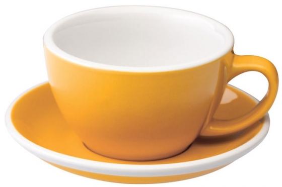 Кофейная пара Egg Latte Cup 300 жёлтая 1