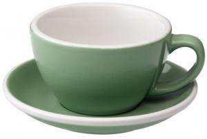 Чайная пара Egg 300 ml мятного цвета