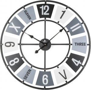 Кварцевые часы в металлическом корпусe Steel Ø68 CM