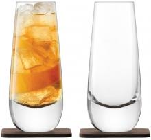 Набор из 2 бокалов на подставке из ореха whisky islay 325 ml