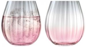 Набор из 2 тумблеров Dusk 425 ml розовый-серый