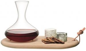 Набор из декантера 1.4 L и сырной доски wine
