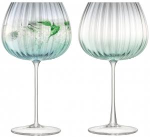 Набор из 2 круглых бокалов Dusk 650 ml зелёный-серый