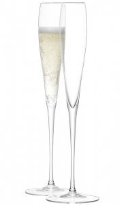 Набор из 2 высоких бокалов-флейт wine 100 ml