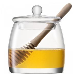 Банка для мёда serve с деревянной ложкой