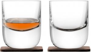 Стакан Renfrew Whisky с деревянной подставкой 270 ml 2 шт