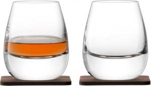 Стакан islay whisky с деревянной подставкой 2 шт.