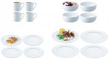 Набор посуды dine с бортиком 16 предметов