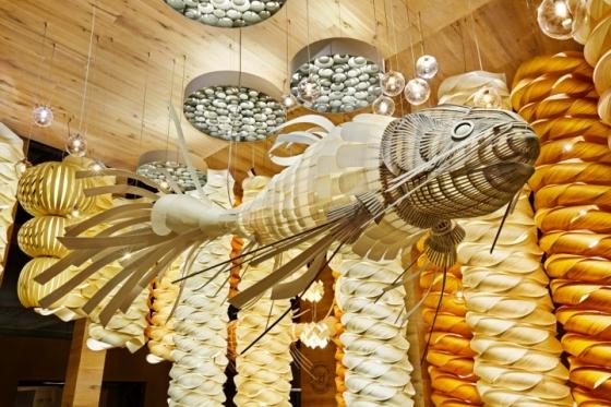 Подвесной светильник в форме рыбы KOI LS 352X175 CM 4